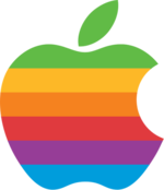 The Apple logo, 1977–1998
